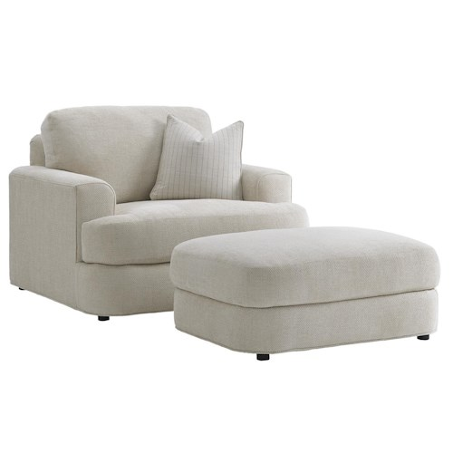 Lexington LAUREL CANYON Halandale Chair and Ottoman Set