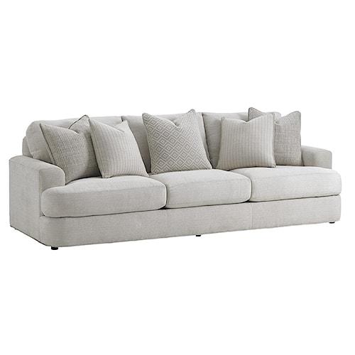 Lexington LAUREL CANYON Halandale Contemporary Sofa with Toss Pillows
