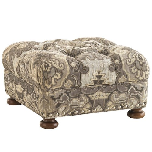 Lexington Lexington Upholstery Elle Upholstered Ottoman withTufted Top