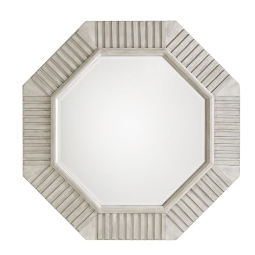 Lexington Oyster Bay Selden Octagonal Mirror with Beveled Detailing