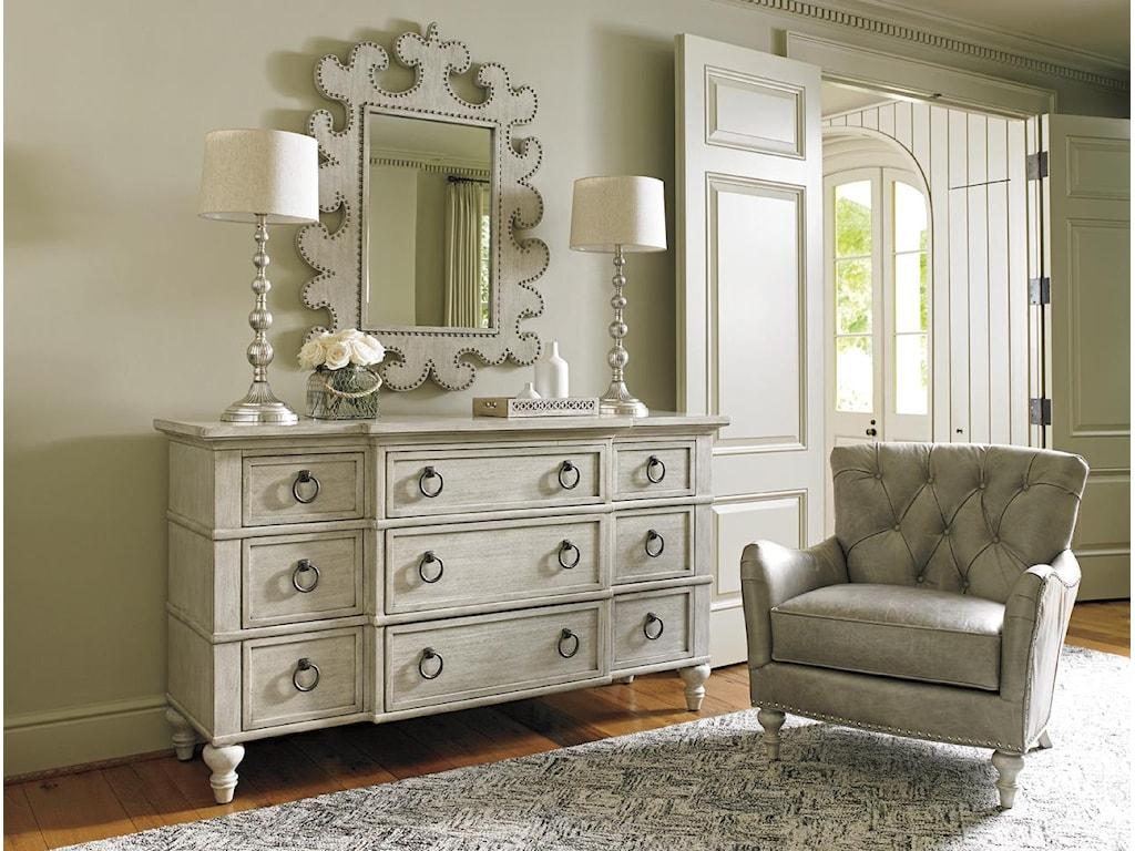 Oyster Bay Bedroom Furniture Lexington Oyster Bay Barrett Nine Drawer Dresser With Flip Front