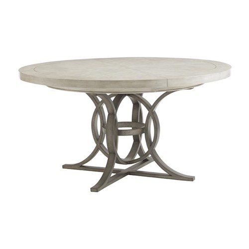 Lexington Oyster Bay Calerton Round Dining Table with Extension Leaf
