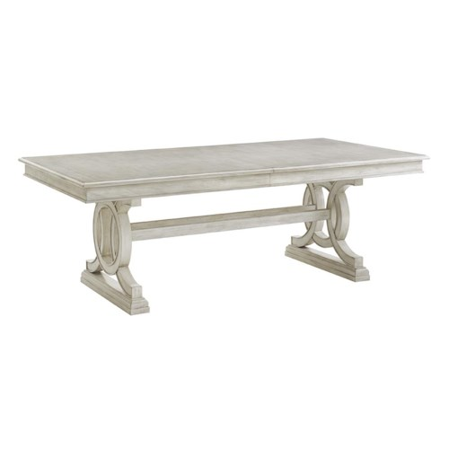 Lexington Oyster Bay Montauk Rectangular Trestle Dining Table with Two Table Extension Leaves