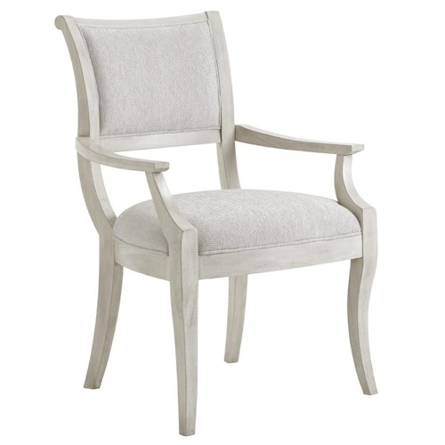 Lexington Oyster Bay Eastport Arm Chair In Sea Pearl Fabric