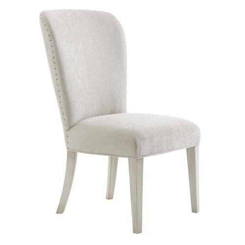 Lexington Oyster Bay Baxter Upholstered Side Chair in Sea Pearl Fabric