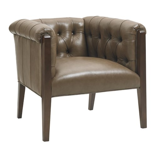 Lexington Oyster Bay Brookville Modern Button Tufted Chair with High Legs