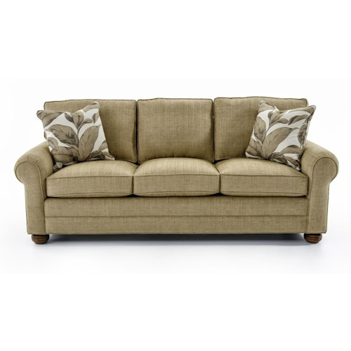Lexington Personal Design Series Customizable Bennett Sofa with Three-Cushion Seat and Panel Arms