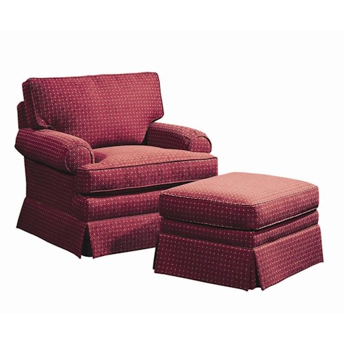Lexington Personal Design Series Customizable McConnell Chair and Ottoman Set