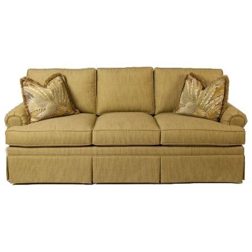 Lexington Personal Design Series Customizable McConnell Sofa with Sock Arms and Waterfall Base