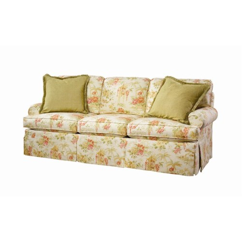 Lexington Personal Design Series Customizable McConnell Sofa with Sock Arms and Skirted Base