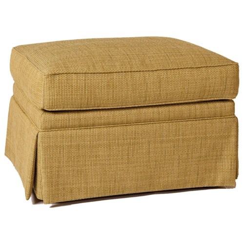 Lexington Personal Design Series Customizable McConnell Ottoman with Skirted Base