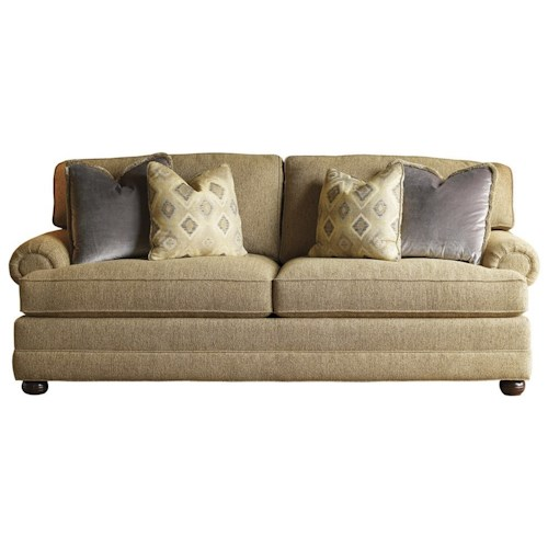 Lexington Personal Design Series Customizable Overland Sofa with Sock Arm and Bun Feet