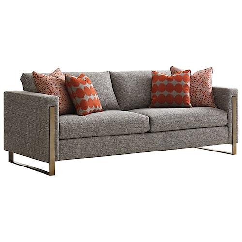 Lexington Shadow Play Nob Hill Modern Sofa with Metal Frame