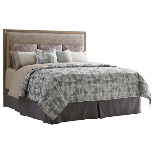 Lexington Shadow Play Uptown California King Faux Leather Upholstered Headboard