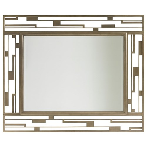 Lexington Shadow Play Studio Metal Mirror with Contemporary Burnished Silver Frame