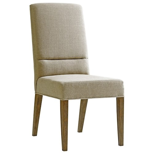 Lexington Shadow Play Metro Dining Side Chair in Dove Gray Fabric
