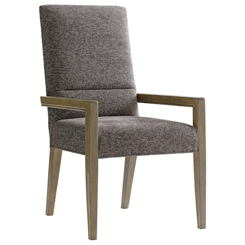 Lexington Shadow Play Metro Dining Arm Chair with Customizable Fabrics