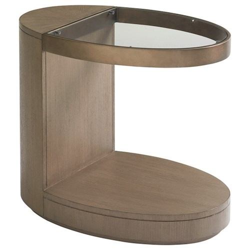 Lexington Shadow Play Highball Cantilevered Oval End Table