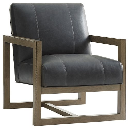 Lexington Shadow Play Harrison Modern Chair with Architectural Wood Frame