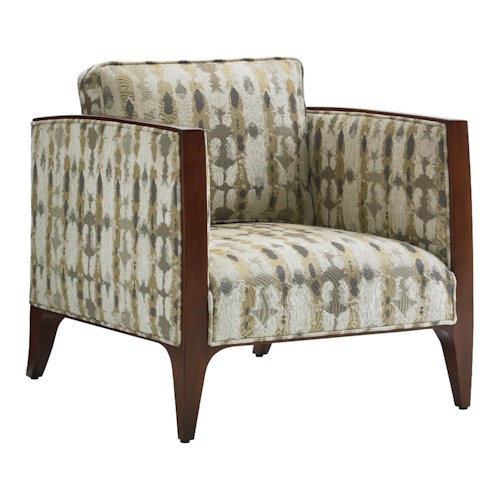 Lexington TAKE FIVE Cobble Hill Arm Chair with Wood Trim