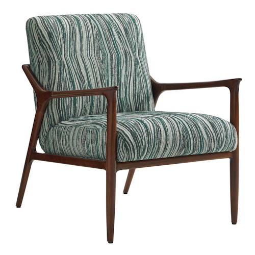 Lexington TAKE FIVE Warren Mid Century Modern Chair with Slender Wood Arms