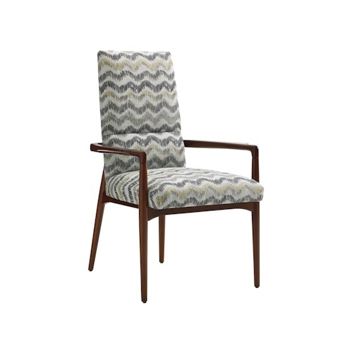 Lexington TAKE FIVE Chelsea Mid Century Modern Arm Chair with Customizable Fabric