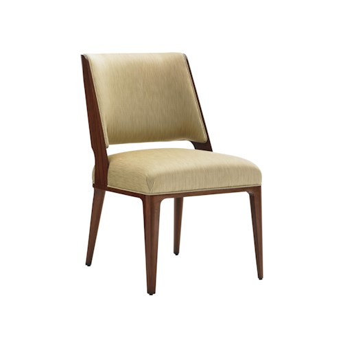 Lexington TAKE FIVE Hayden Mid Century Modern Side Chair in Seville Fabric