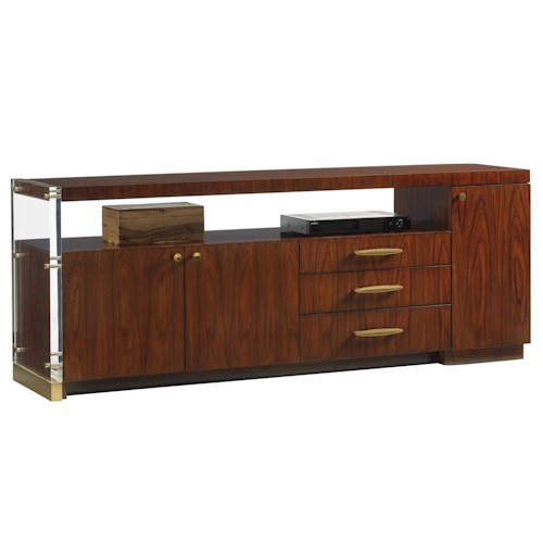 Lexington TAKE FIVE Delancy 76 Inch Mid Century Modern TV Stand with Wire Management