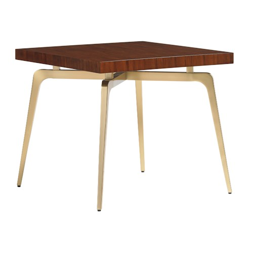 Lexington TAKE FIVE Allegro Lmap Table with Rosewood Veneers and Brass-Plated Legs