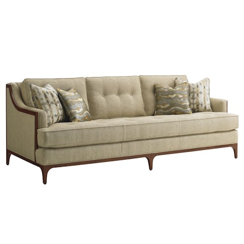Lexington TAKE FIVE Barclay Sofa with Tufting and Exposed Wood Detail