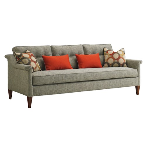 Lexington TAKE FIVE Whitehall Tufted Sofa with Modern Rolled Arms and Bench Seat