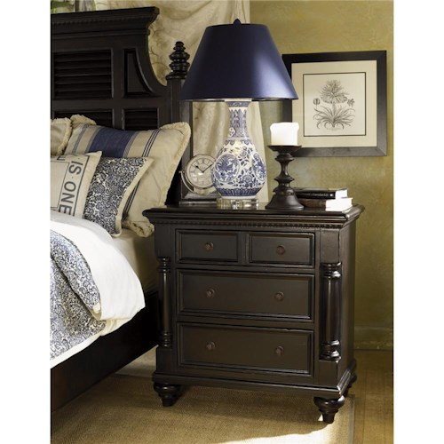 Tommy Bahama Home Kingstown Stony Point Night Stand with Pilasters