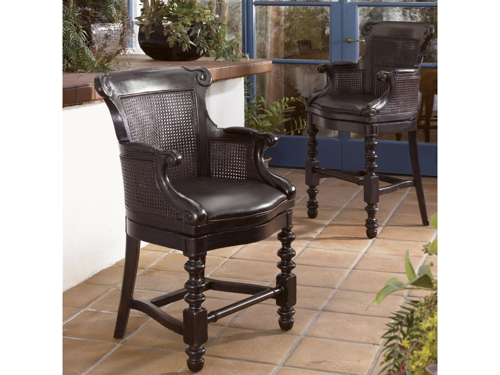 Shown with Dunkirk Swivel Counter Stool