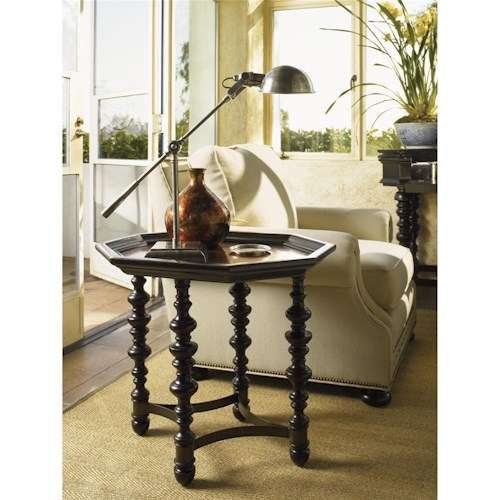 Tommy Bahama Home Kingstown Octagon Plantation Accent Table