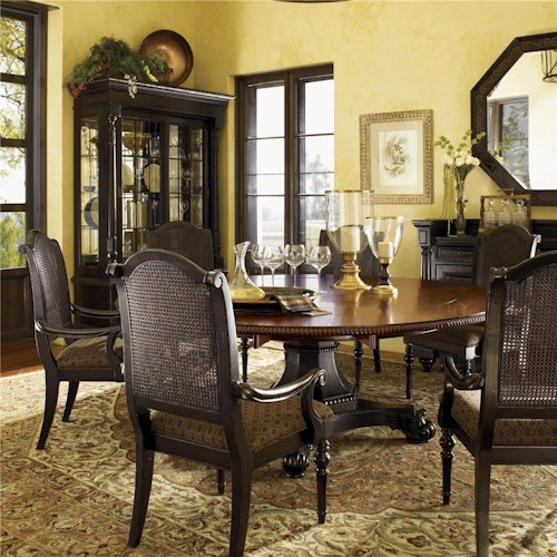 Tommy Bahama Home Kingstown Bonaire Dining Set with 6 Chairs