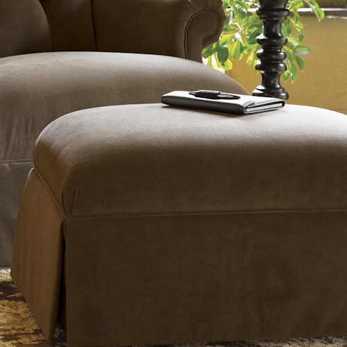 Tommy Bahama Home Kingstown Augustine Ottoman with Skirt
