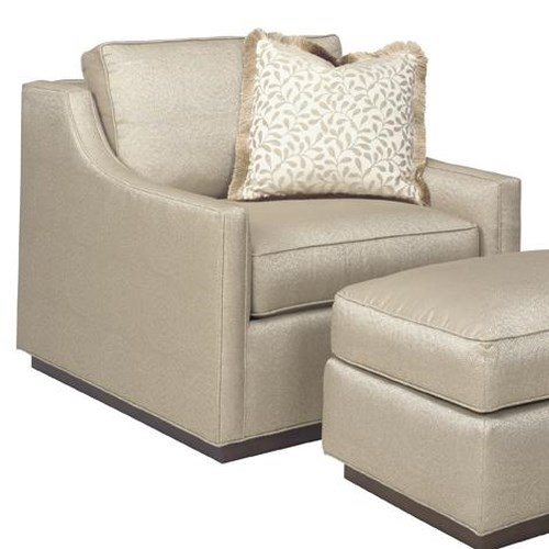 Lexington Tower Place Contemporary Bartlett Chair with Sloped Track Arms