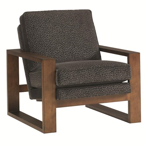 Lexington 11 South Axis Chair with Exposed Wood