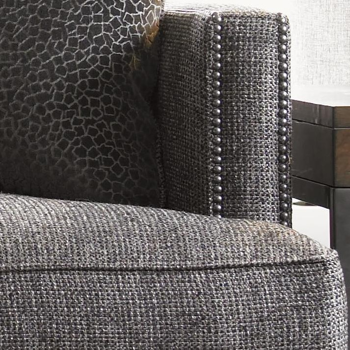 Nailhead Trim Adds to the Modern-Contemporary Feel of the Sofa