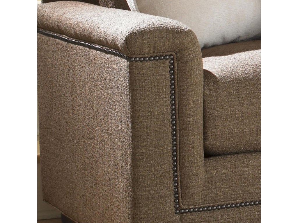 Upholstered Track Arm with Nailhead Trim Detailing