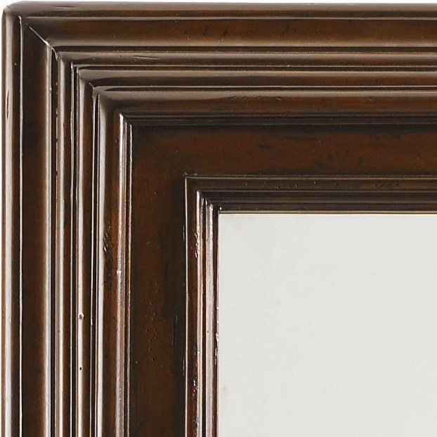 Molding Details on the Frame Make a Handsome Border Around the Beveled Mirror