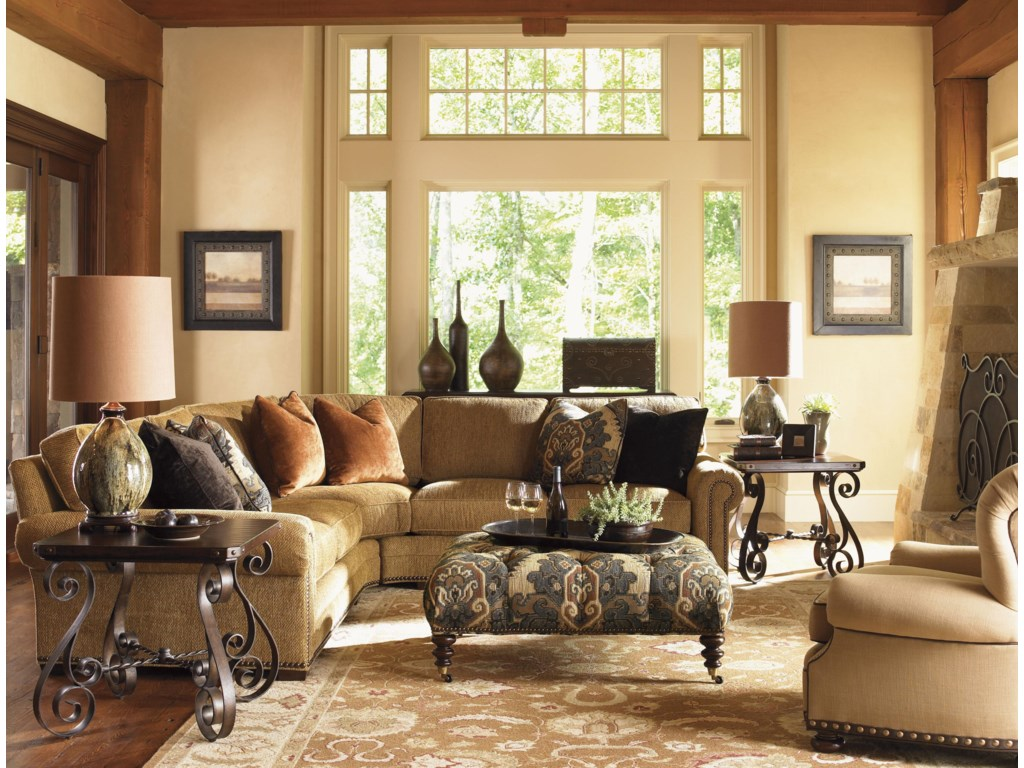 Shown with Cohen Sectional Sofa, Littleton End Table, and Elle Chair