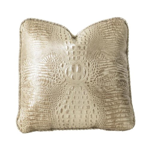 Lexington Florentino Florentino Leather and Fabric Blended Toss Pillow
