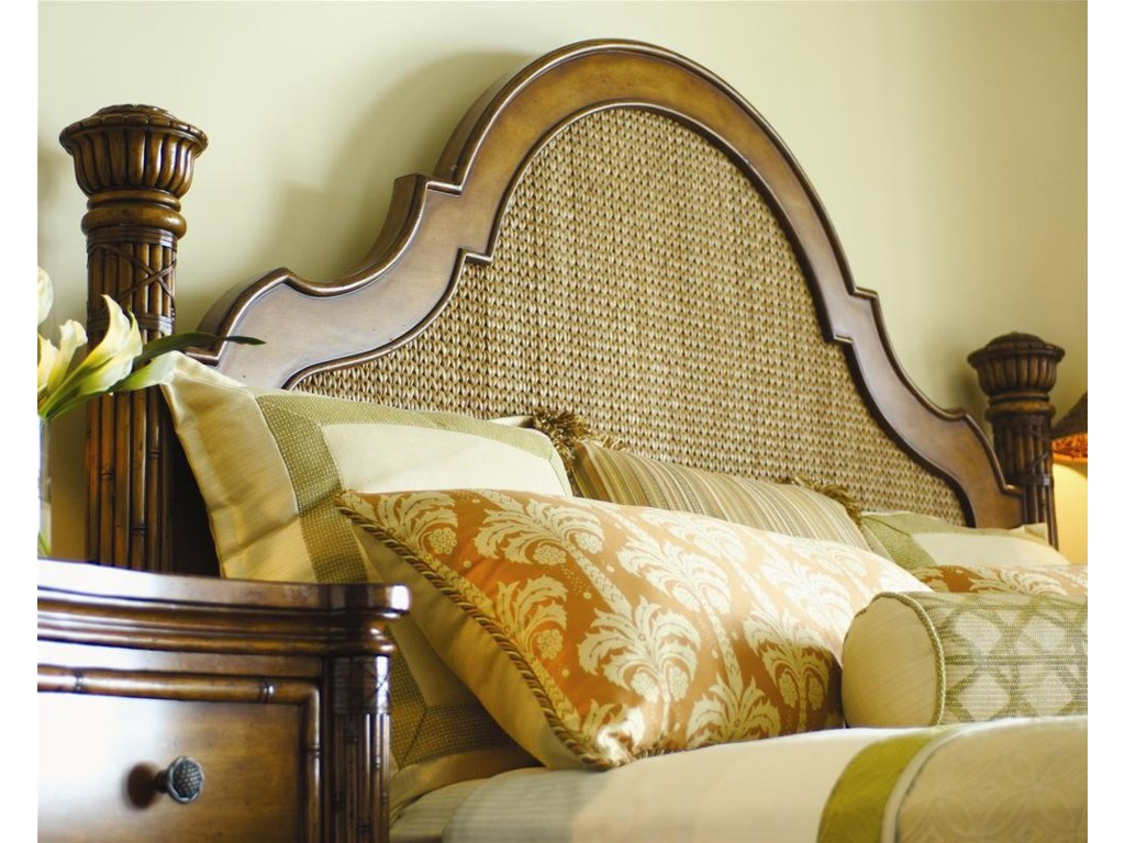 Woven Lampakanai Headboard in Chevron Pattern