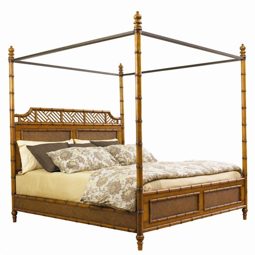 Tommy Bahama Home Island Estate California King-Size West Indies Canopy Bed