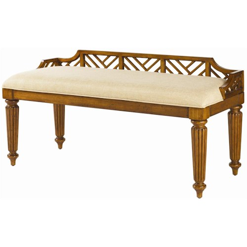 Tommy Bahama Home Island Estate <b>Customizable</b> Upholstered Plantain Bed Bench
