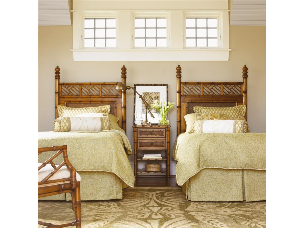 Shown with West Indies Twin Headboard Beds