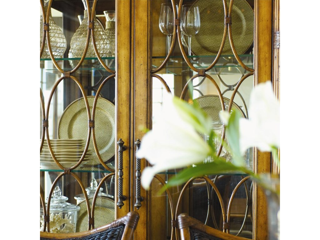 Glass Doors with Decorative Bamboo Fretwork
