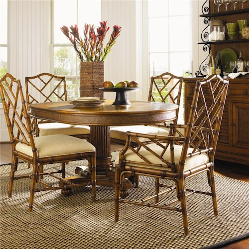 Tommy Bahama Home Island Estate 5 Piece Dining Cayman Table & Ceylon Chairs Set