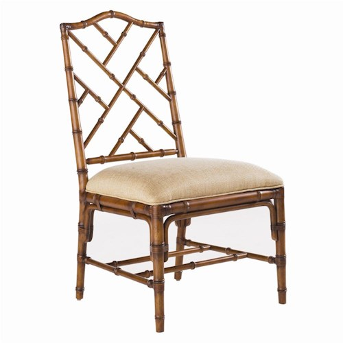 Tommy Bahama Home Island Estate <b>Quick Ship</b> Ceylon Side Chair with Rattan Frame